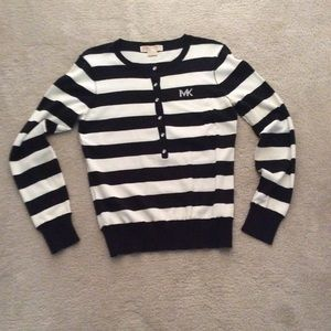 Michael Kors black and white stripe sweater